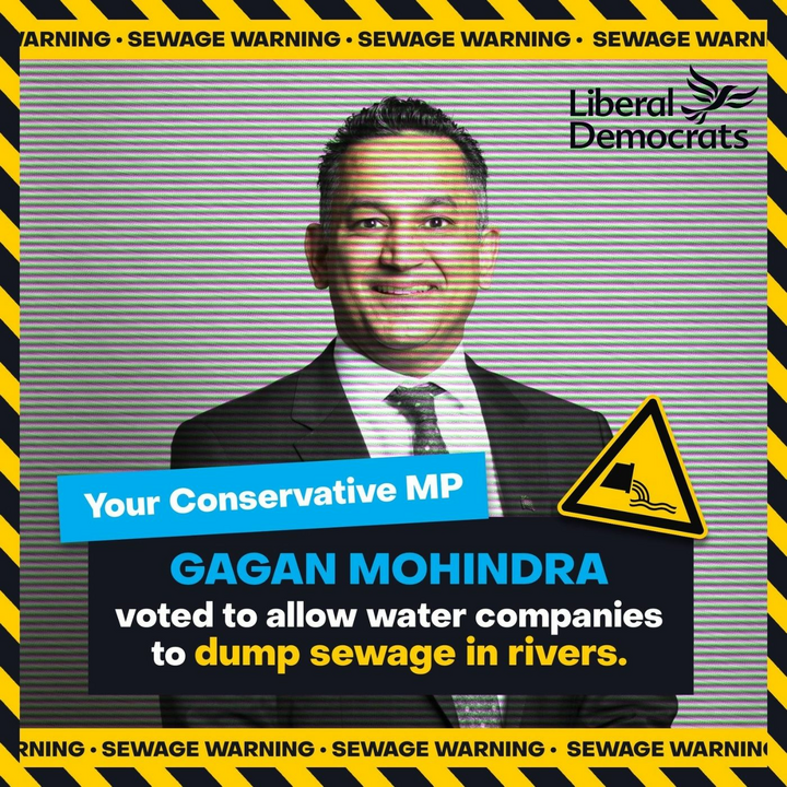 Tories voting to let sewage dumping continue